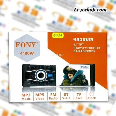 AUTORADIO FONY 4030UM 1 DIN