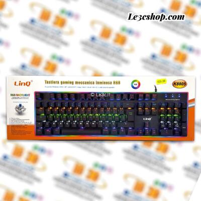 Tastiera meccanica luminosa linq rgb k8805