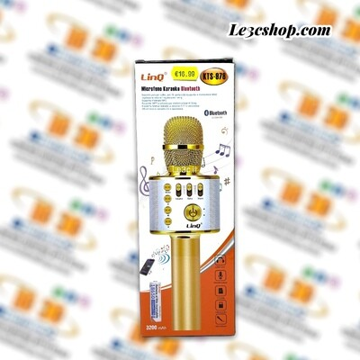 microfono karaoke bluetooth kts-978 linq silver