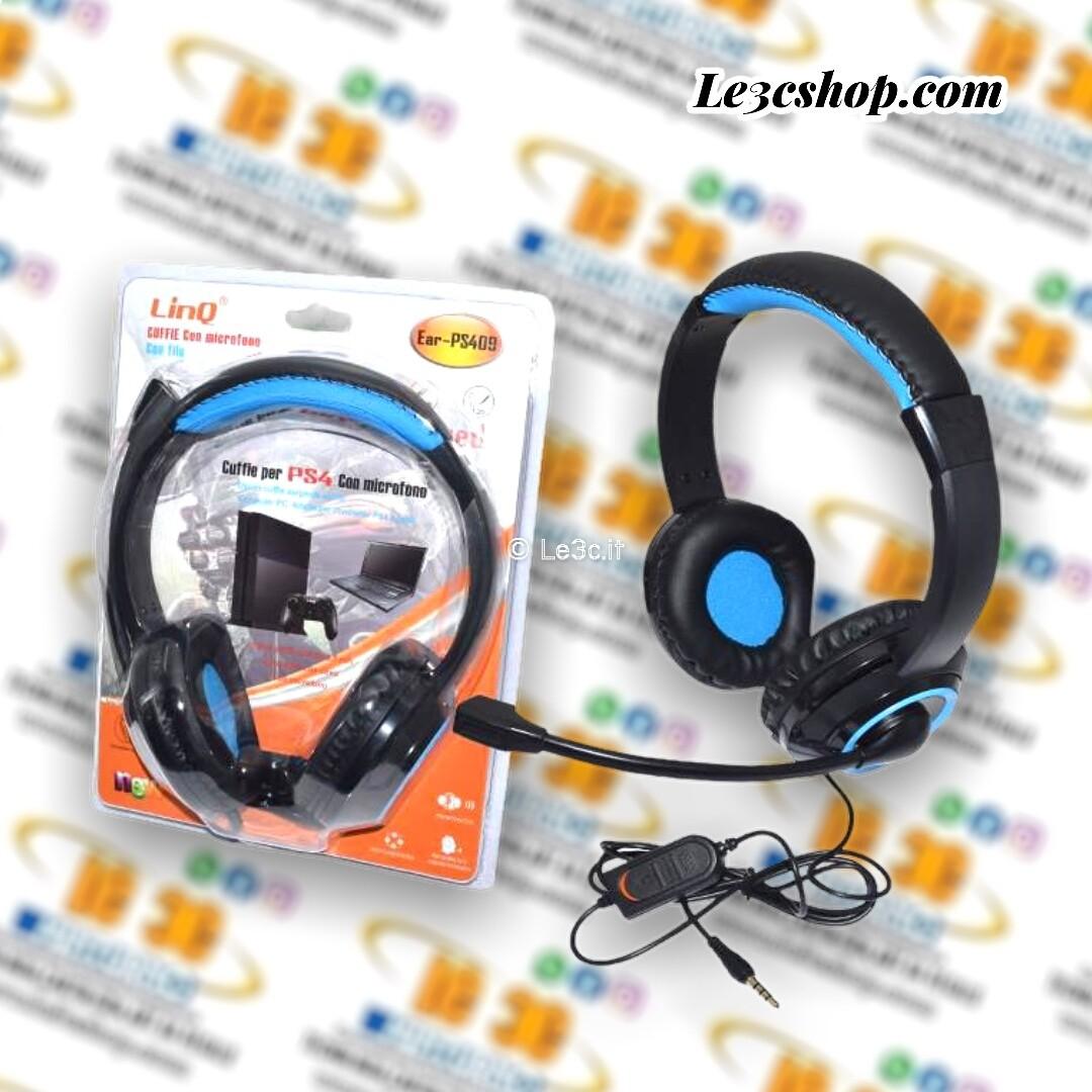 Cuffie Ps4 Linq con filo ear-ps409