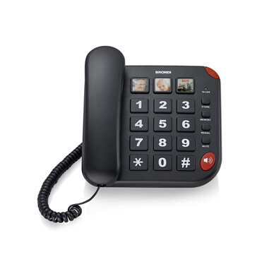 Brondi BRAVO 15 Telefono analogico Nero Identificatore di chiamata