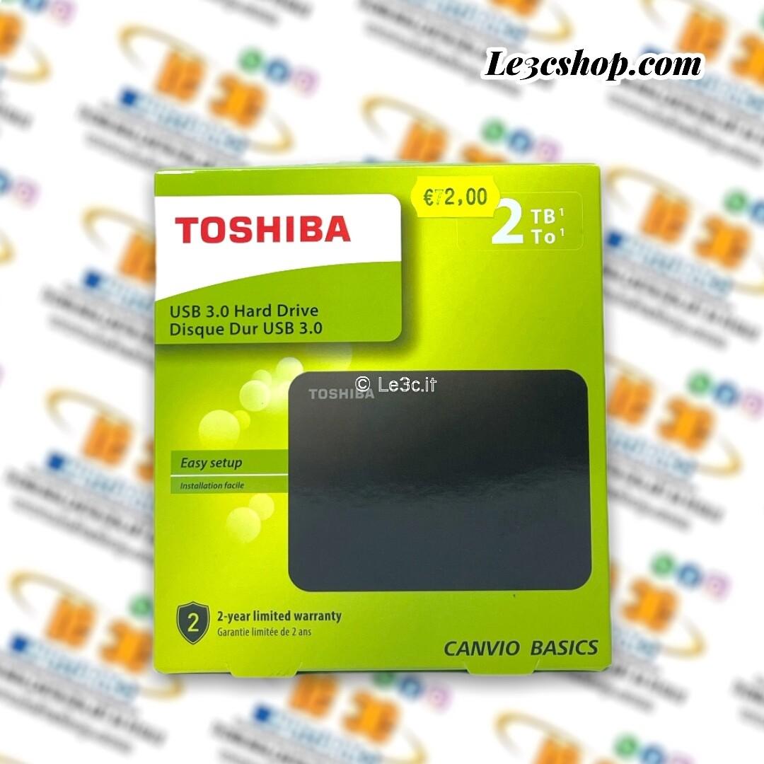 Toshiba HDTB420EK3AA disco rigido esterno 2000 GB Nero