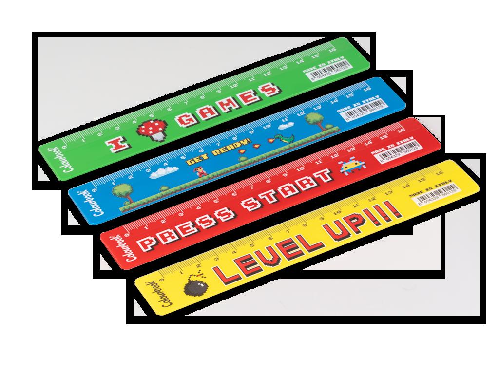 Righello colourbook games Misura cm 16