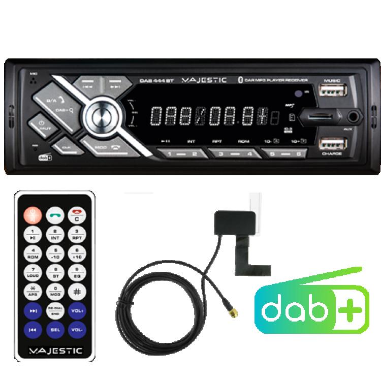 AUTORADIO DAB/DAB+/RDS FM BLUETOOTH INGRESSI USB1 / USB2 / SD / AUX-IN ANTENNA DAB INCLUSA