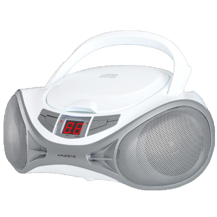Majestic stereo lettore cd portatile ah-1262 cd white/silver