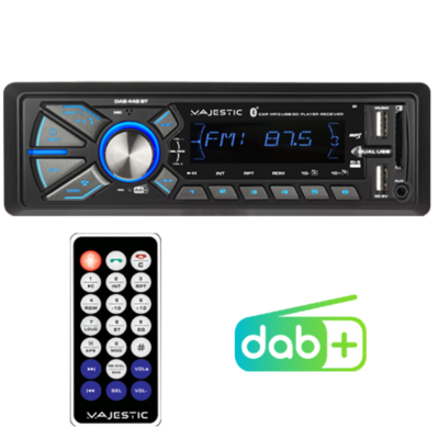 AUTORADIO RDS FM/DAB+ BLUETOOTH INGRESSI USB1/USB2/SD/AUX-IN TELECOMANDO
