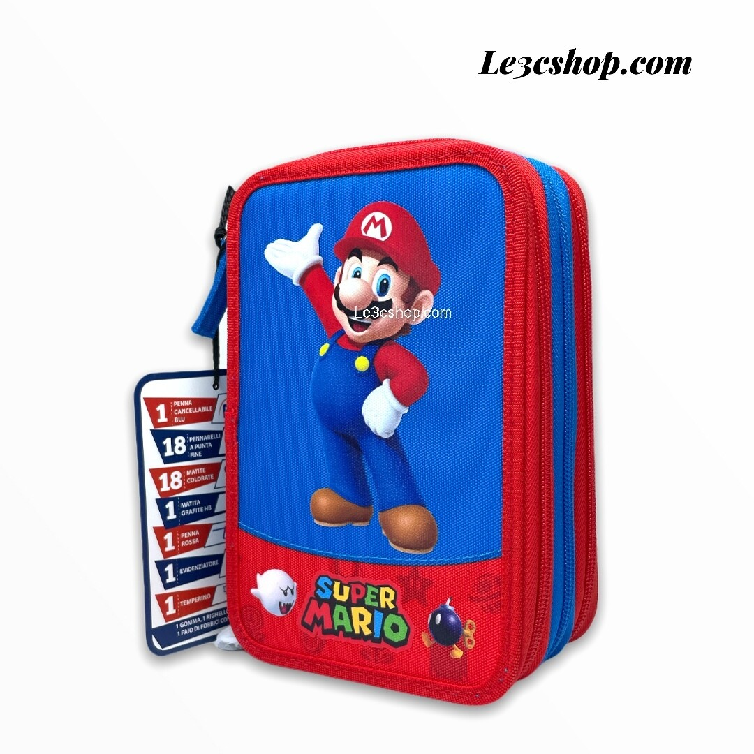 Astuccio 3 zip super Mario Panini