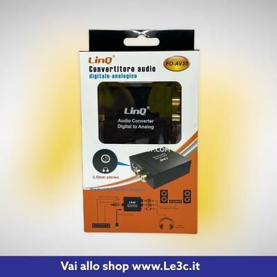 Convertitore audio digitale - analogico linq con cavo. f0-av35