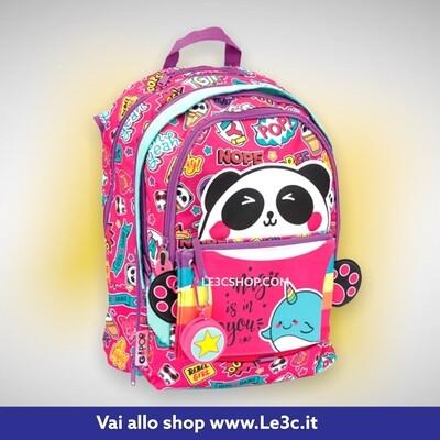 Go Pop Zaino Scuola Estensibile Panda Magic 2021-2022