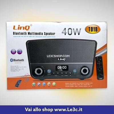 multimedia speaker bluetooth linq karaoke 40w