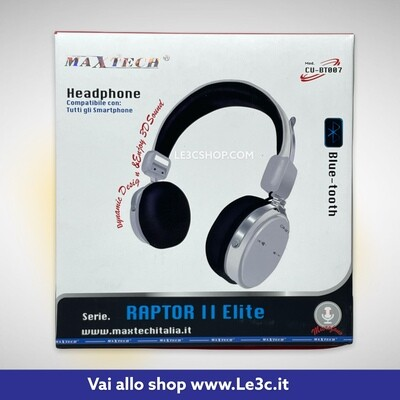 Cuffia Bluetooth Maxtech raptor II elite