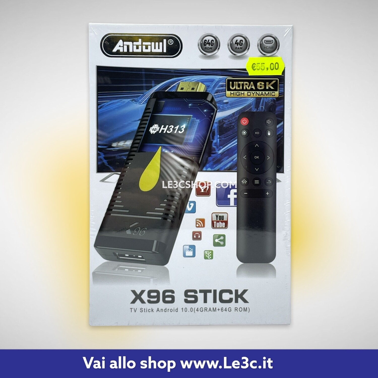 X96 tv stick Android 4 gb Ram android 10.0 64 gb rom 6k