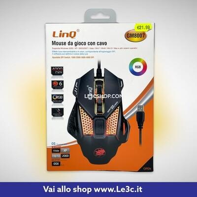Mouse Da Gioco Con Cavo Linq 4000 DPI RGB GM8007
