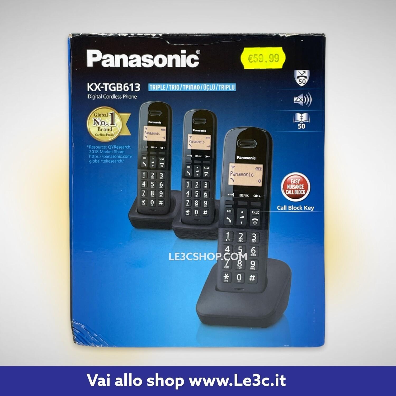 Cordless Panasonic KX-TGB613 Telefono DECT Nero.