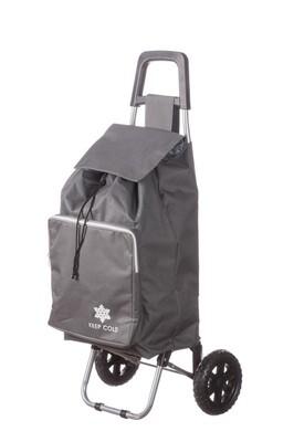 Borsa trolley per spesa con ruote e sacca termica- ass. 2 colori - cm. 38 x 36 x h. cm. 96,5