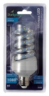 Lampada LED 3528 spirale - attacco E27 -  - 5 W - mm. 49 x 105 - 408 lumen