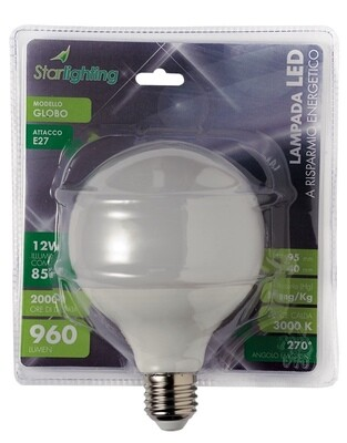 Lampada LED globo luce calda - attacco E27 -  - 15 W - mm. 125 x 173 - 1200 lumen