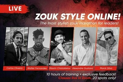 Zouk style online for leaders (eng)