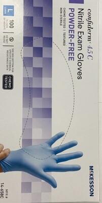 100 Confiderm 4.5c Nitrile Exam Gloves Large