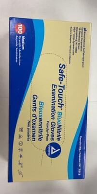 100 Safe-touch BlueNitrile Examination Gloves
