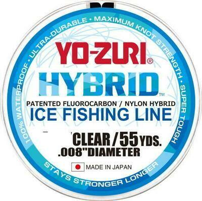 YO-ZURI HYBRID FIL POUR PÊCHE SUR LA GLACE CLAIR 55 VGS 3LB