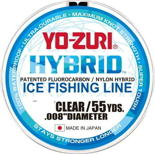 YO-ZURI HYBRID FIL POUR PÊCHE SUR LA GLACE CLAIR 55 VGS 5LB
