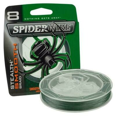 SPIDERWIRE STHEALTH SMOOTH FIL TRESSE 30 LB VERT MOUSSE 125 VERGES