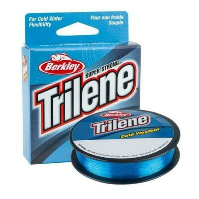 BERKLEY TRILENE COLD WEATHER MONOFILAMENT 6 LB  110 VERGES BLEU ELECTRIQUE