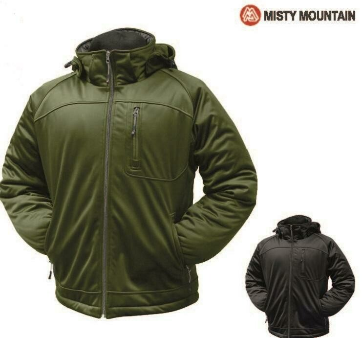 WORLD FAMOUS MANTEAU QUEST(SOFTSHELL) MISTY MOUNTAIN  XLARGE ARMY