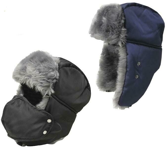 WORLD FAMOUS CHAPEAU BOMBER FROID POLAIRE-BLEU LARGE