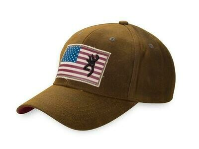 BROWNING CASQUETTE, LIBERTY WAX DARK BROWN