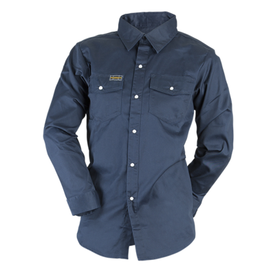 JACKFIELD CHEMISE MANCHES LONGUES MARINE À SNAP (S)