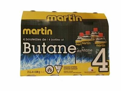MARTIN BOITE DE 4 BOUTEILLES DE BUTANE (4X228g) (4x8oz)