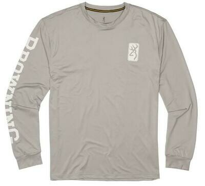 BROWNING CHANDAIL SOLAIRE A MANCHE LONGUE GRIS (S)