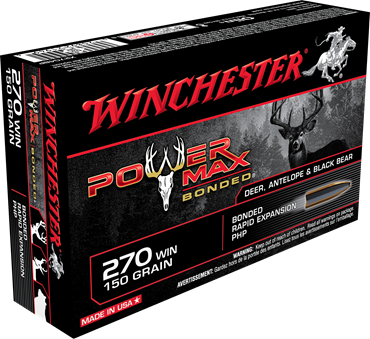 WINCHESTER MUNITION POWER MAX 270 WIN 150GR