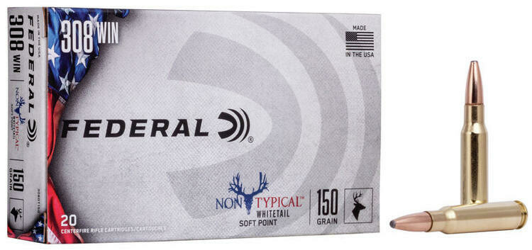 FEDERAL NON TYPICAL WHITETAIL CAL. 30-06 150GR.