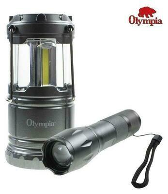 OLYMPIA ENSEMBLE DE LAMPES  TAC LIGHT 300 LUMENS ET MINI LANTERNE 200 LUMENS