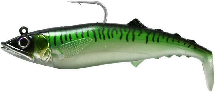 FISHLAB  SOFT MACK ATTACK GREEN MARKEREL 8'' 9 1/2 OZ
