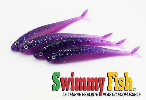 SWIMMY FISH 3 1/2 LEURRE GRAPE