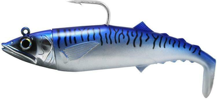 FISHLAB  SOFT MACK ATTACK BLUE MARKEREL 8'' 9 1/2 OZ