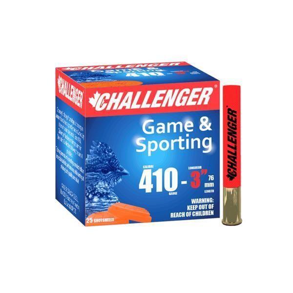 "CHALLENGER GAME & SPORTING 410GA,#4,3"",11/16oz,25/BTE"