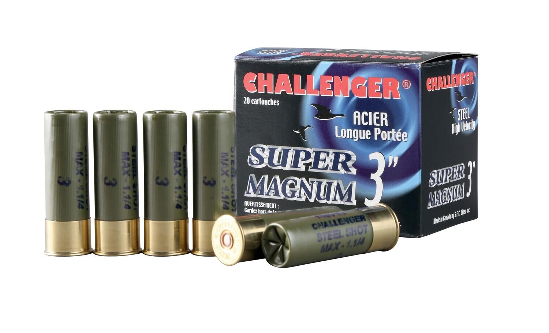 CHALLENGER STEEL ACIER 12GA 2 3/4'' BB 1 1/8OZ X20
