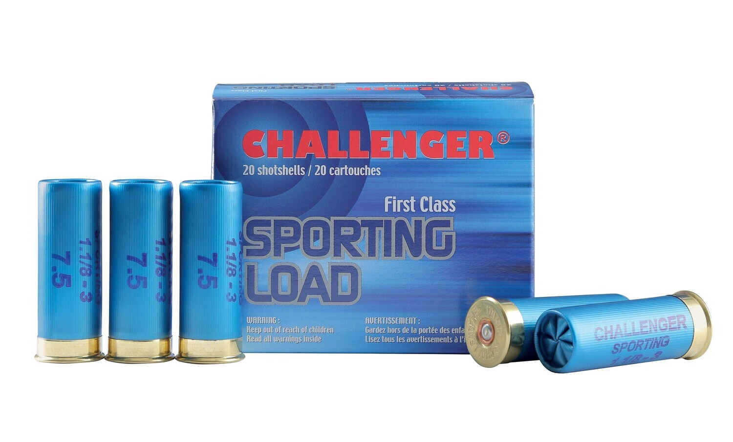 CHALLENGER SPORTING LOAD CAL 12 2 3/4 1 1/8 OZ #7.5