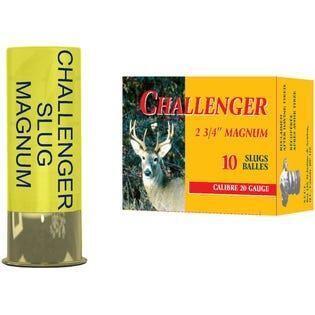 CHALLENGER SLUG MAGNUM 20GA, 2 3/4'', 7/8OZ, QTY:10