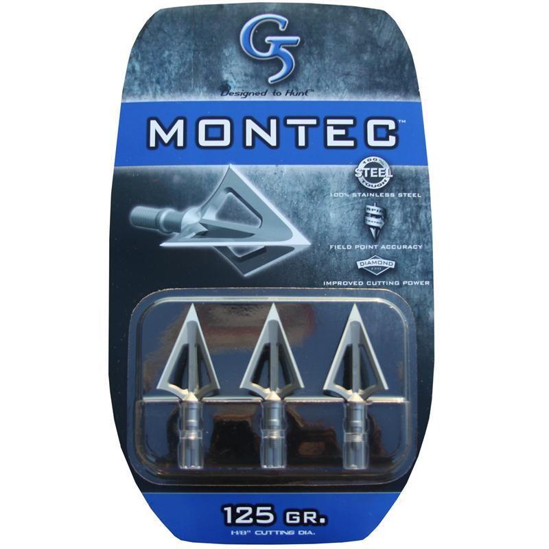MONTEC POINTES DE CHASSE G5 125 GR. 3PK