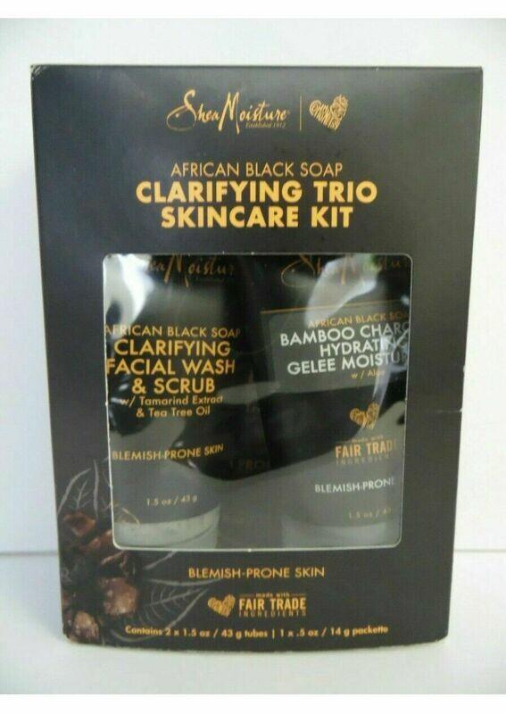 Shea Moisture Clarifying Trio SkinCAre Kit Blemish-Prone Skin