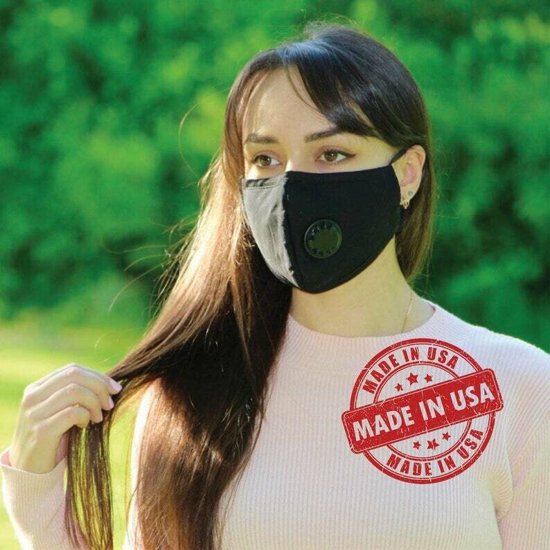 Facial Armour Black Face Mask with Valve