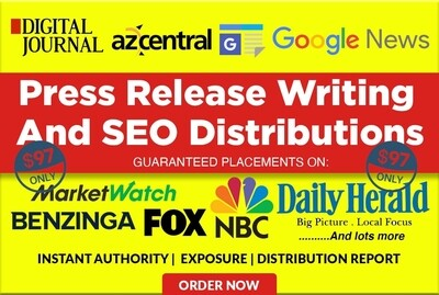 Get Your Press Release Featured In Google News, Digtal Journal and Marketwatch.