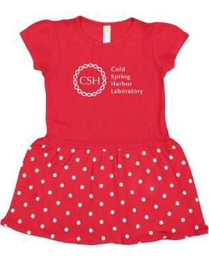 Childrens Dress Red/White Polka Dots