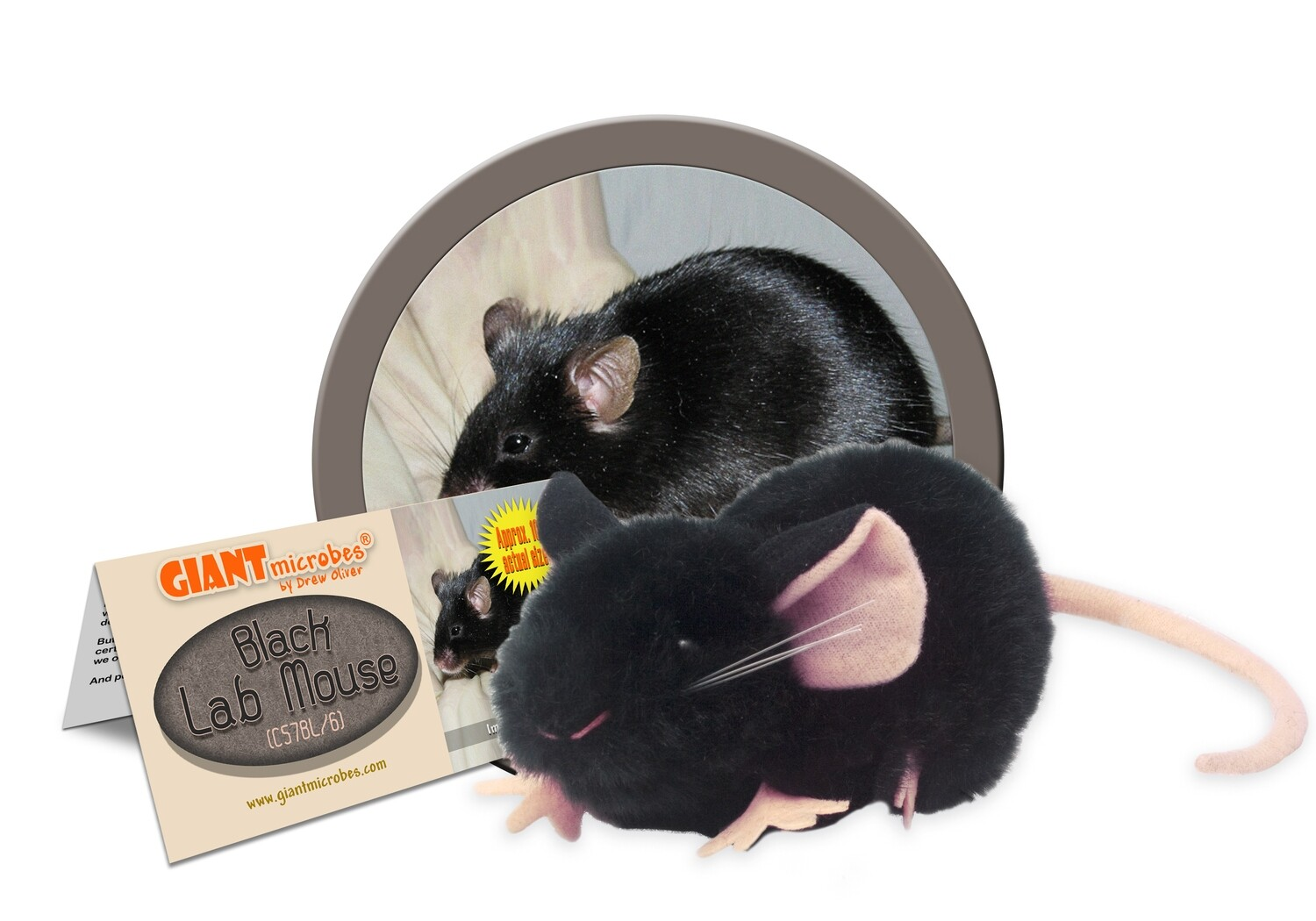 Giant M Toy - Black Lab Mouse